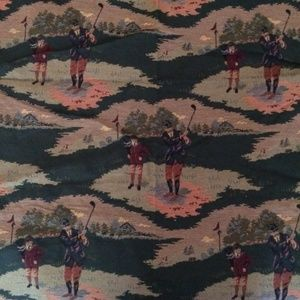 Vintage Golf Tapestry Fabric
